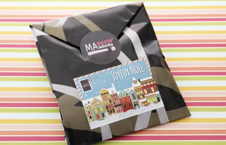 Offre de Noël chez Ma Peste Adorée : frais de livraison offerts et emballages cadeaux fournis !
