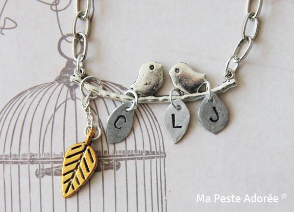 Collier Happy Birds personnalisé by Ma Peste Adorée