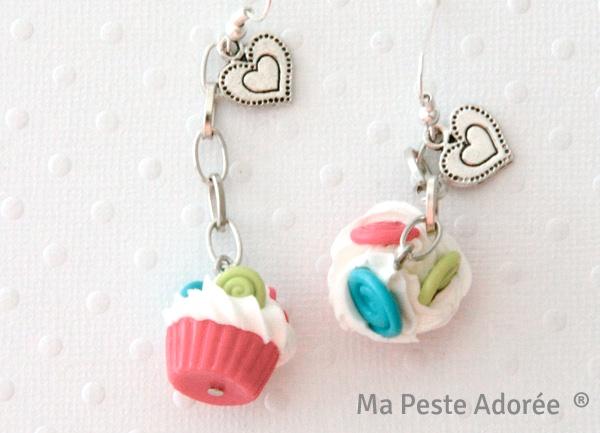 Bijoux fimo cupcakes par Ma Peste Adorée