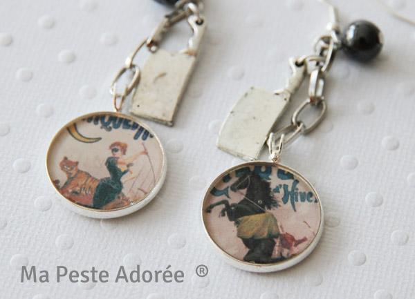 Bijoux vintage sur le thème du cirque par Ma Peste Adorée