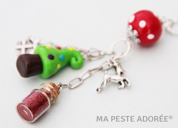 Bijoux en fimo thème Noël, créations exclusives Ma Peste Adorée