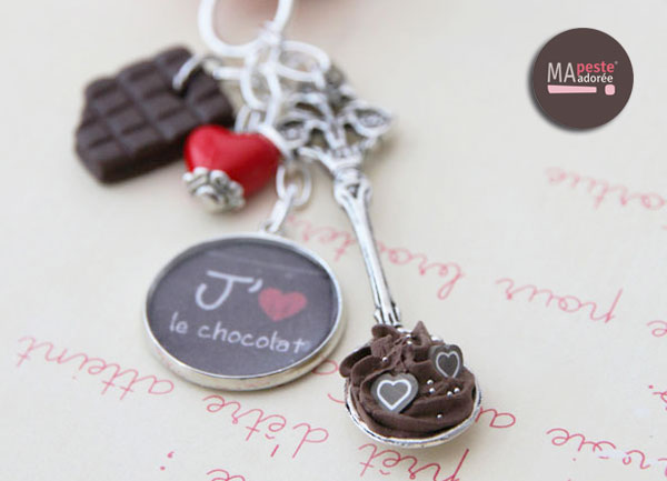 Nouveaux bijoux gourmands en fimo et sur le thème du chocolat, créations exclusives Ma Peste Adorée