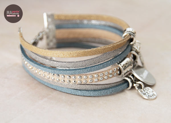 Bracelet unique avec prénom ou date, à personnaliser chez ma peste adorée